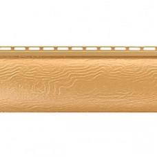 Золотистый сайдинг Блокхаус (под бревно), Однопереломный, Альта-Профиль