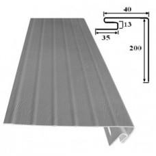 J-фаска (Околооконная планка) широкая 20 см Белый Sidelux
