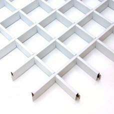 Потолок Грильято белый 100х100 (м2)
