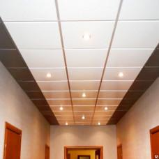 Белый матовый eco кассетный потолок Албес