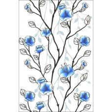 Панель ПВХ - Дерево голубое
