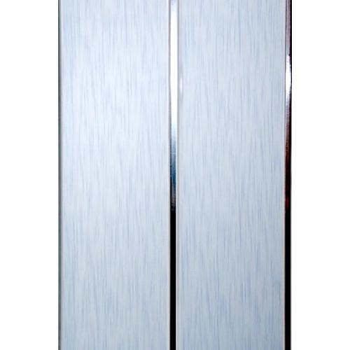Реечная панель - Штрих голубой 2х-полосная