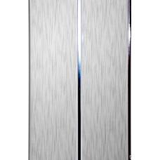 Реечная панель - Штрих серый 2х-полосная