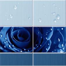 3D-панель ПВХ Unique - Капли росы синий
