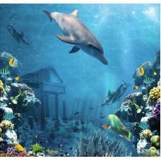 3D-панель ПВХ Unique - Подводный мир узор