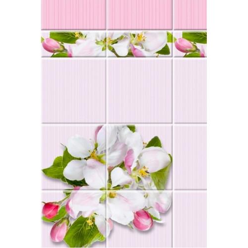 3D-панель ПВХ Unique - Яблоня розовая узор