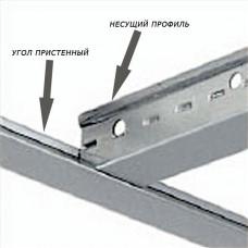 Уголок пристенный белый стальной 19*19 L=3,0 м.
