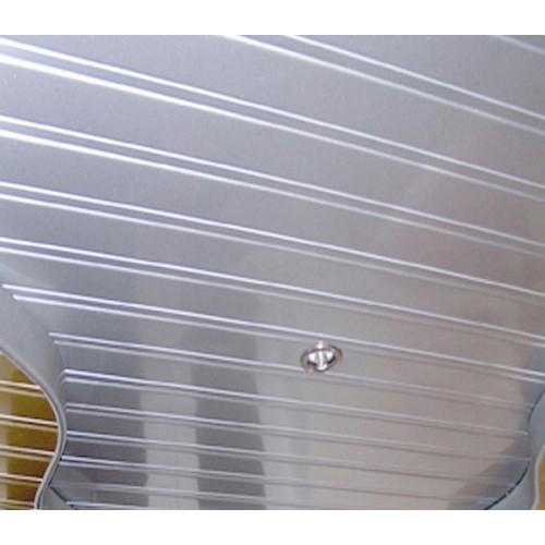 Комплект  потолка с рейками металлик и вставками металлик